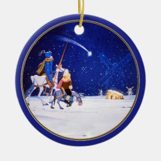 Fantasia da natividade & do Don Quixote - por Cerv Ornamento Para Arvores De Natal