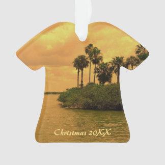 Fantasia da palmeira datado ornamento