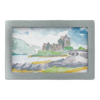 Fantasia das montanhas de Scotland e castelo de