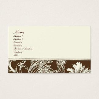 Fantasia do chocolate cartão de visitas