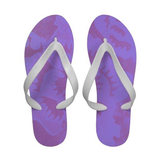 Fantasia malva sandálias de dedo