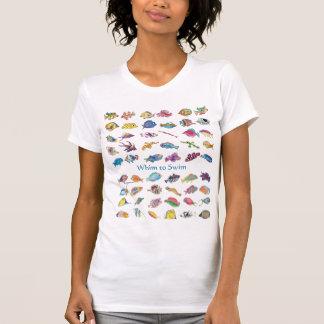 Fantasia para nadar peixes dos desenhos animados tshirt