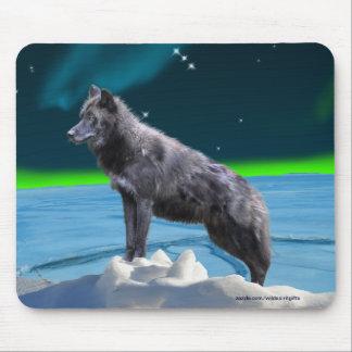 Fantasia preta Mousepad do lobo cinzento & da