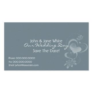 Fantasia romance nosso cartão de visita do casamen