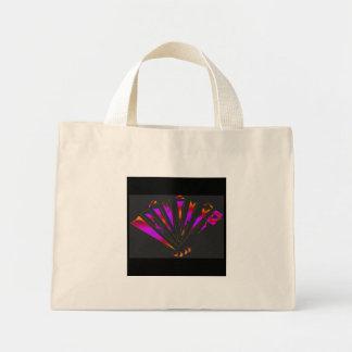 Fantasia roxa em natural bolsas para compras