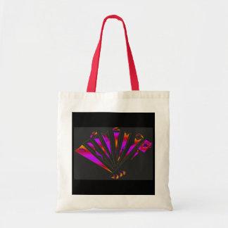 Fantasia roxa em natural e em vermelho bolsas para compras
