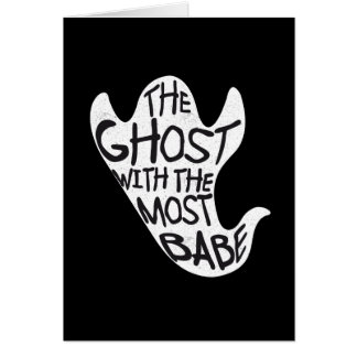 Fantasma com o cartão o mais preto & o mais branco