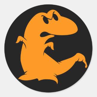 Fantasma do dinossauro adesivo