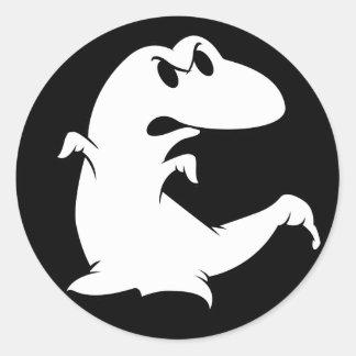 Fantasma do dinossauro adesivos em formato redondos