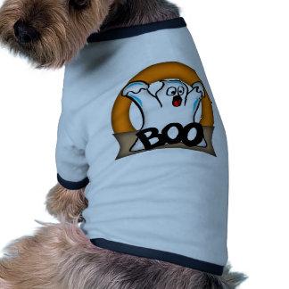 Fantasma gritando do Dia das Bruxas Camisa Ringer Para Cachorro
