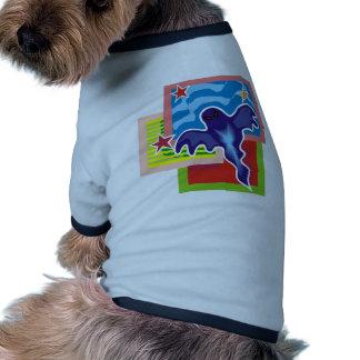 Fantasma mau camisa ringer para cachorro