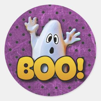 Fantasma que diz etiquetas do Dia das Bruxas da