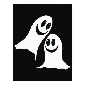 Fantasmas bonitos dos desenhos animados do Dia das Panfletos Personalizado