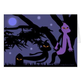 Fantasmas e cartão do Dia das Bruxas da lápide