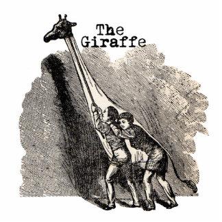 Fantoche do traje do girafa do vintage escultura de fotos