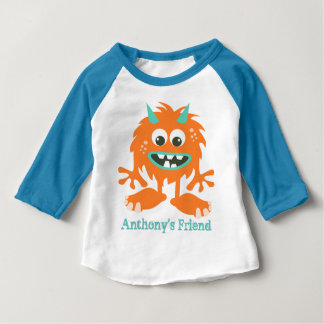 Fantoche pequeno feito sob encomenda bonito do camiseta para bebê