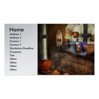 Farmacêutico - equipamento medicinal cartão de visita