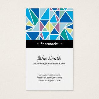 Farmacêutico - geometria abstrata do azul cartão de visitas