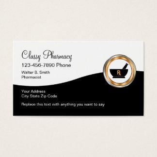 Farmácia de varejo elegante cartão de visitas