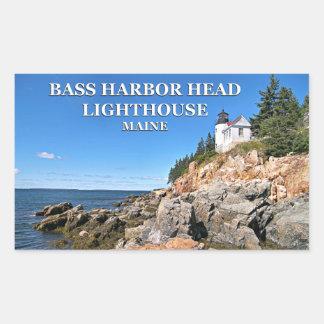 Farol baixo da cabeça do porto, etiquetas de Maine