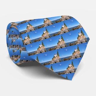 Farol baixo da cabeça do porto, laço dos homens de gravata