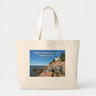 Farol baixo da cabeça do porto, sacola do jumbo de bolsa tote grande