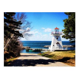 Farol Bridgetown Nova Escócia Canadá de Hampton Cartão Postal