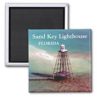 Farol chave da areia, ímã de Florida Ímã Quadrado