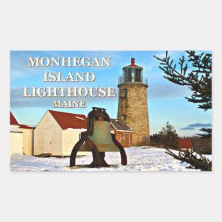 Farol da ilha de Monhegan, etiquetas de Maine