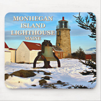 Farol da ilha de Monhegan, Maine Mousepad