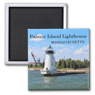 Farol da ilha de Palmer, ímã de Massachusetts Ímã Quadrado