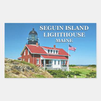 Farol da ilha de Seguin, etiquetas de Maine