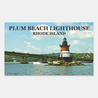 Farol da praia da ameixa, Rhode - etiquetas da