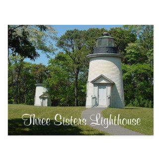 Farol das irmãs de Cape Cod três, cartão maciço