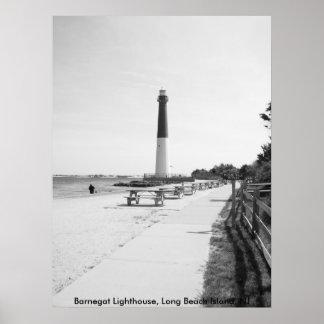 Farol de Barnegat, ilha de Long Beach Pôster