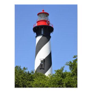 Farol de St Augustine histórico, Florida Impressão De Foto