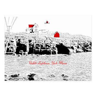 Farol do Nubble, York, Maine - cartão