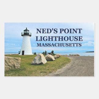 Farol do ponto de Ned, etiquetas de Massachusetts