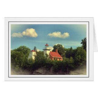 Farol do ponto de Sherwood - Door County, cartão