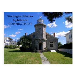 Farol do porto de Stonington, cartão de