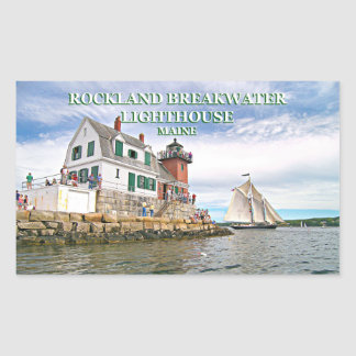 Farol do quebra-mar de Rockland, etiquetas de