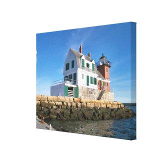 Farol do quebra-mar de Rockland, impressão das