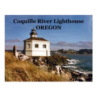 Farol do rio de Coquille, cartão de Oregon