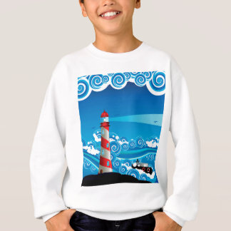 Farol e barco no mar 7 agasalho