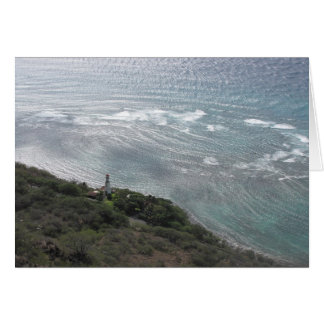 Farol em Oahu Cartão Comemorativo