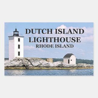Farol holandês da ilha, Rhode - etiquetas da ilha