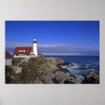 Farol leve principal Maine de Portland Posters