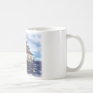 Farol médio móvel da baía caneca de café