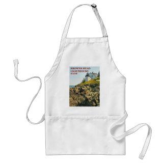 Farol principal dos marrons, avental do cozinhar