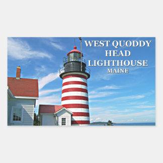 Farol principal ocidental de Quoddy, etiquetas de